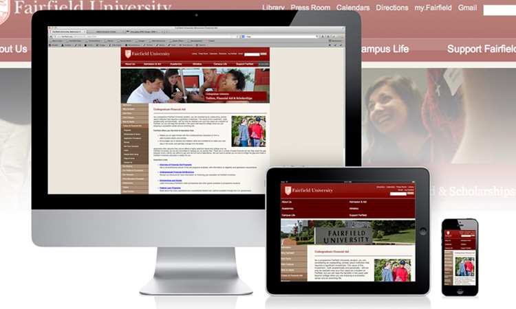 Fairfield University Responsive Page